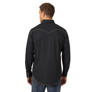 Wrangler Men's Retro Premium Black Snap Shirt