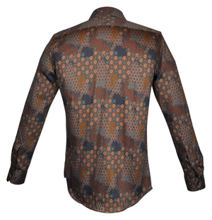 Steelo Santino Brown Fashion Dress Shirt
