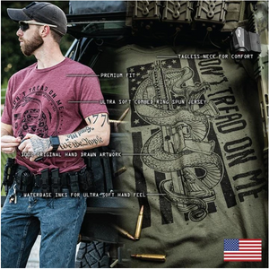 Howitzer Texas Red T-Shirt Black