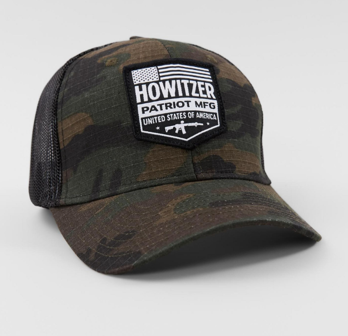 Howitzer Patriot Shield Camo Hat