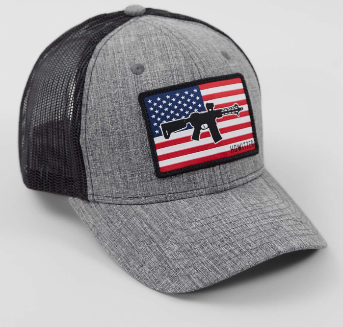 Howitzer Flag Heather Grey Trucker Hat