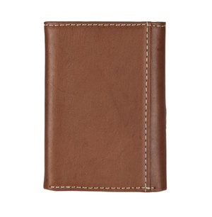 Nocona Trifold Tooled Leather Star Concho Wallet