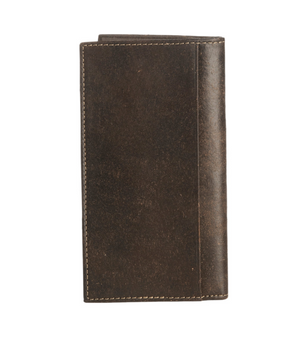 Nocona Brown Leather Cross Rodeo Wallet