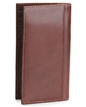 Ariat Shield Concho Basketweave Brown Leather Rodeo Wallet