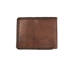 Nocona Cowboy Prayer Tan Leather Bifold Wallet