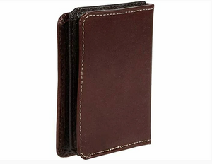 Ariat Bifold Flipcase Basketweave Brown Leather Wallet