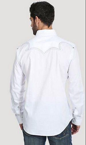 Rock 47 by Wrangler Long Sleeve White Snap Shirt