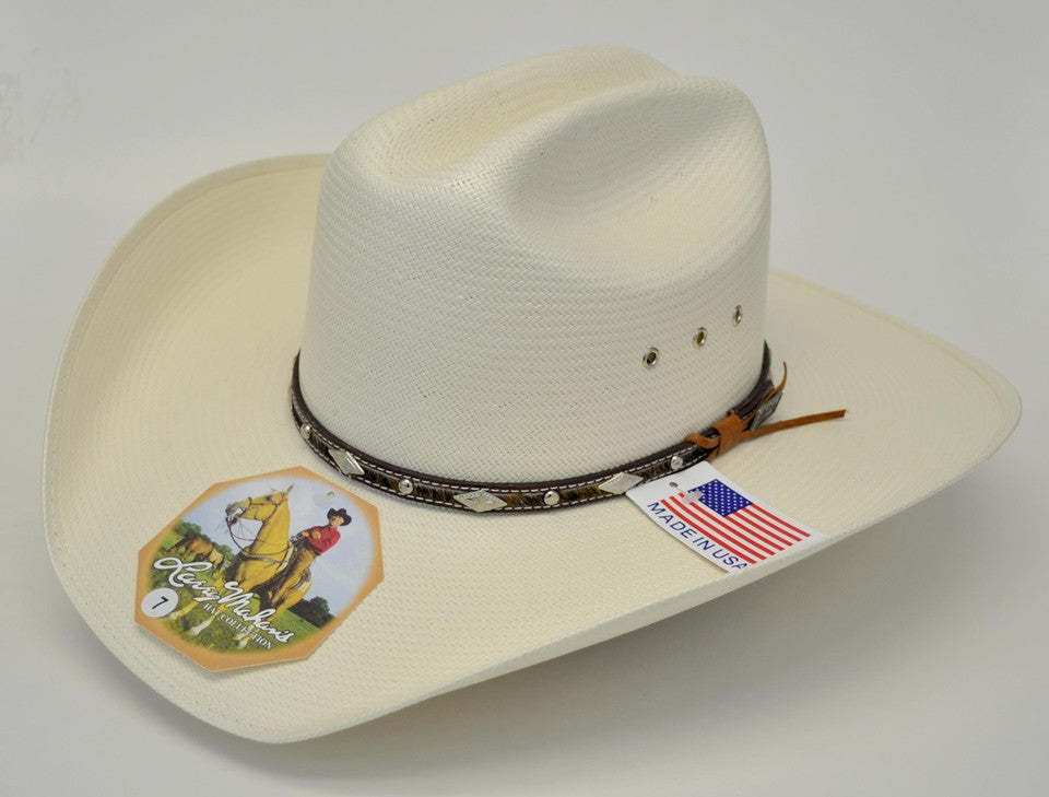 84b40cdbd5ac2 Larry Mahan 10X Brindle Straw Cowboy Hat - Gavel Western Wear