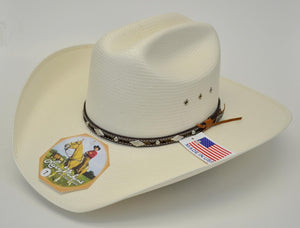 Larry Mahan 10X Brindle Straw Cowboy Hat