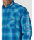 Wrangler Men's Logo Long Sleeve Button-down Shirt Blue/White