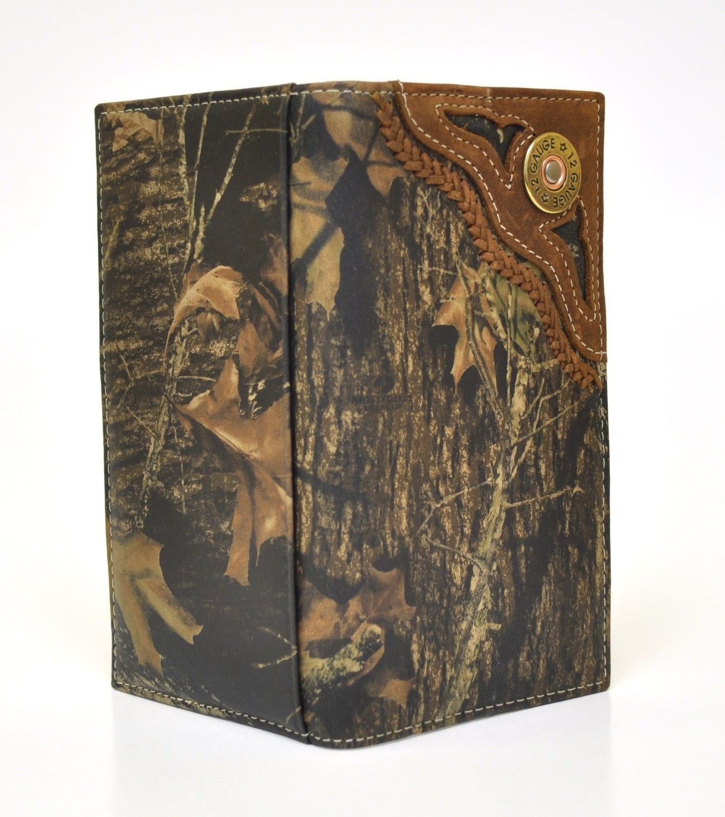 Nocona Mens Wallet Camo Mossy Oak Rodeo With Skull Concho N54358222