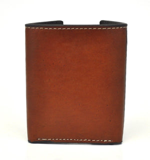 Nocona Pro Series Tooled Leather Tan Trifold Wallet