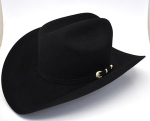 Larry Mahan 6X Real Black Fur Felt Cowboy Hat