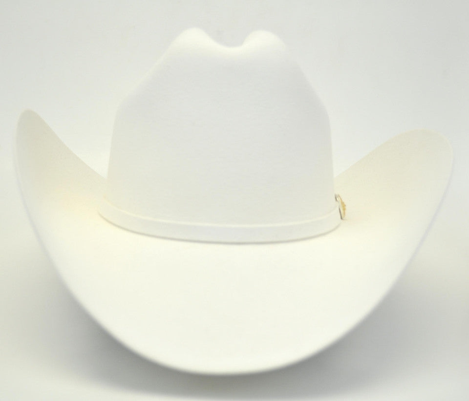 Larry Mahan 6X Real White Fur Felt Cowboy Hat - Gavel Western Wear bd8f0107aa5