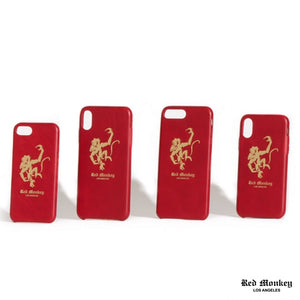Red Monkey Logo Iphone Case Red