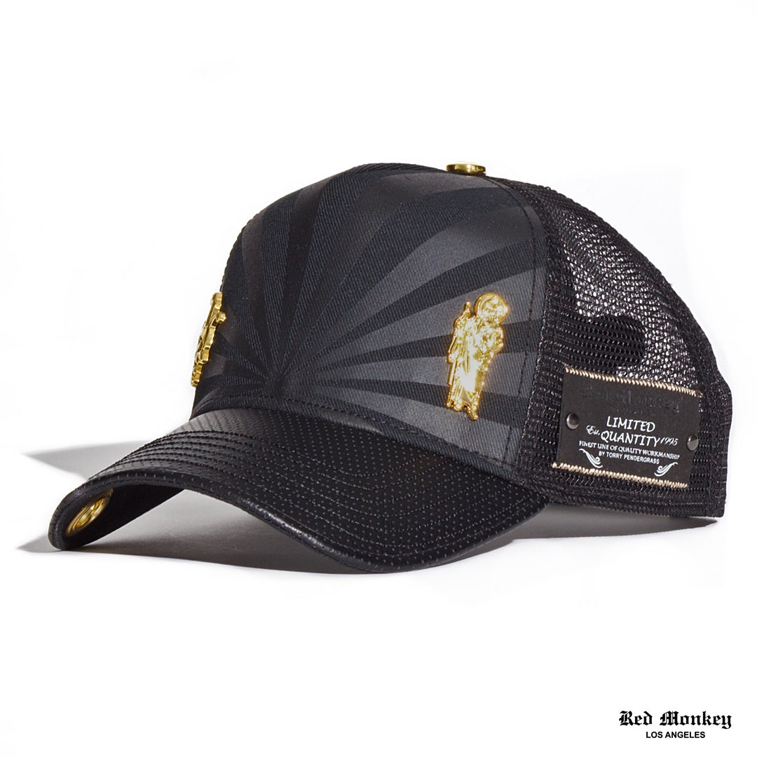 36a0216b9a1 Red Monkey St. Jude Trucker Hat Black