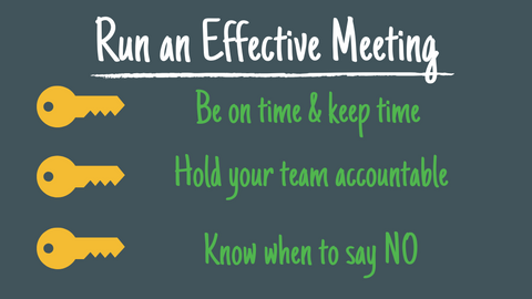 Run an Effective Weekly Meeting