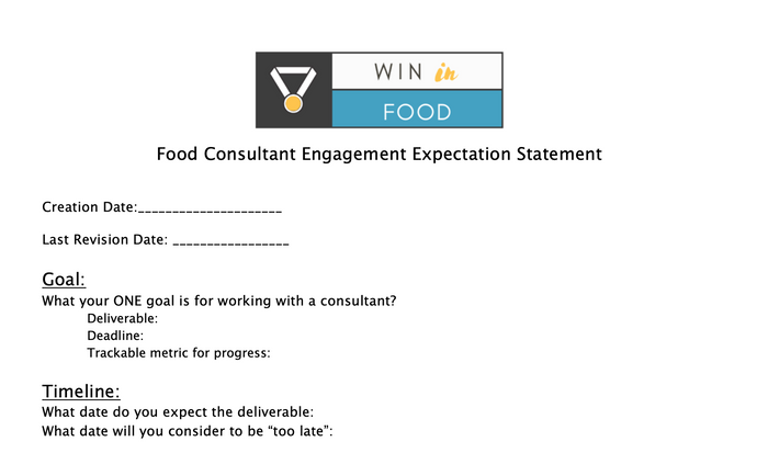 How to Set Expectations When Working With A Food Consultant