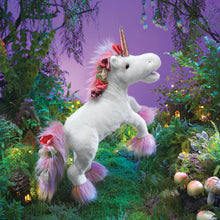 Load image into Gallery viewer, Lobelia the Unicorn Hand Puppet & Personal Message from Noe