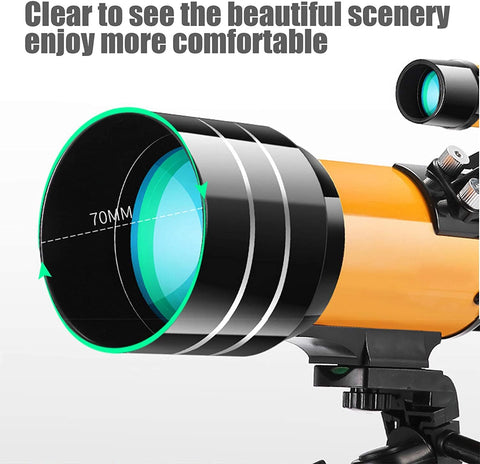 Telescope For Kids And Beginners With Adjustable Tripod HD Night Vision Telescopes On Children Refractive Best Beginner