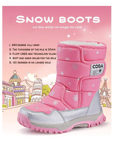 Girls Winter Waterproof Snow Boots Kids Toddler Girl Little Warm Cheap Childrens Size 1 2 Sale 3 4 Cute