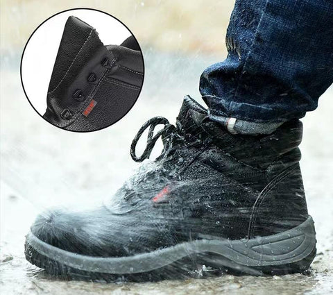 Mens Steel Toe Safety Boots Work Black Lightweight Cheap Best Waterproof Lace Up Comfortable