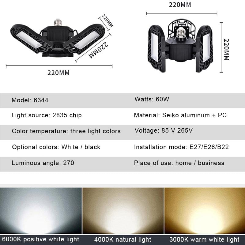 Adjustable LED Lighting Garage Light Lights