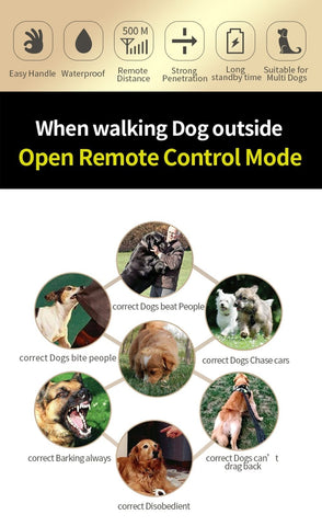 Dog Shock Collar Training No Bark Electric Best Control With Remote Anti