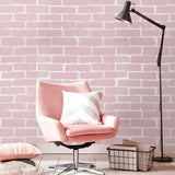 White Brick Whitewash 3D Removable Wallpaper Wall On Stick Peel And Stick Faux 3d