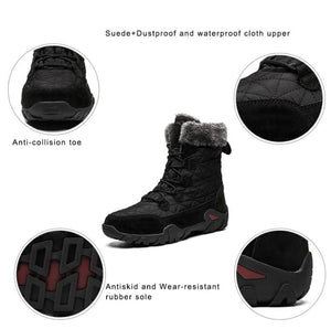 Mens Snow Winter Stylish Waterproof Boots Warm For Fur Lined Black Men's Cold Weather Best