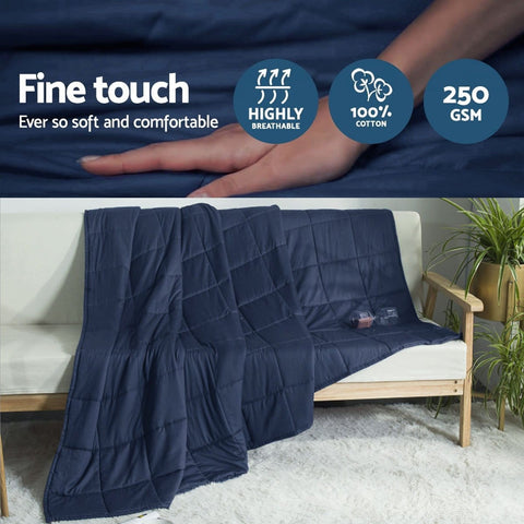 Gravity Weighted Cooling Heavy Blanket Best Anxiety Comforter Throw