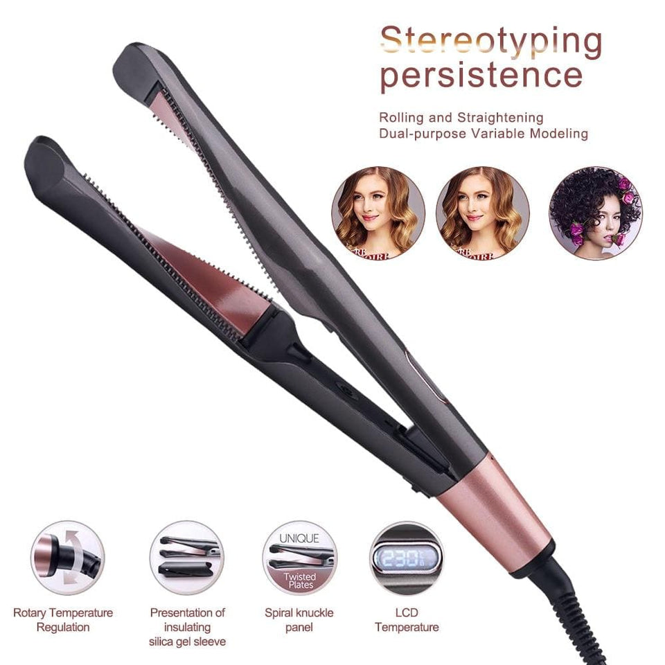 2 In 1 Hair Curler And Straightener Best Iron Twist Curling