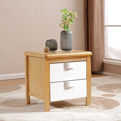 Bedside White Wood Small Nightstand Table With Drawers Night Tables