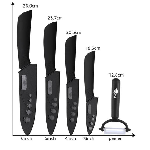Ceramic Kitchen Knives Accessories Set Of