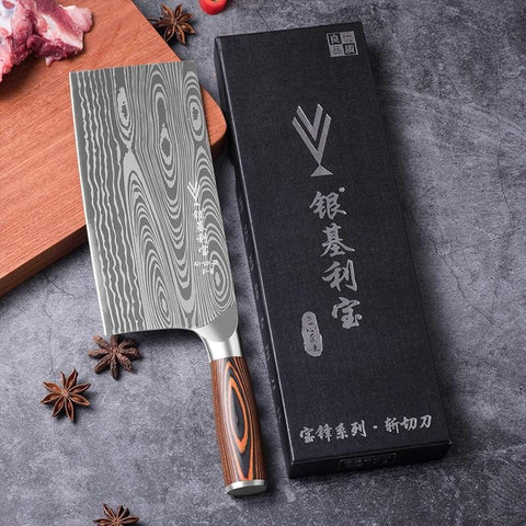 """Cleaver High-Grade Chef Knife 7"""" Handmade Forged Carbon Blade Steel"""