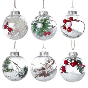 Christmas Ornament Balls Tree Decorations 8PCS White Ornaments Decoration