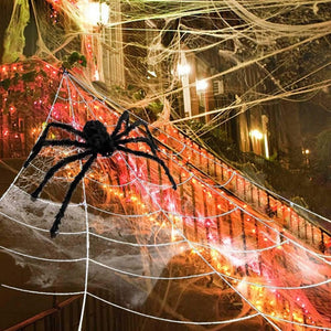 Halloween Fake Spider Web Yard Outdoor Decorations Decoration Cheap Giant Yarn