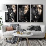 African Art Black And Gold Women Wall Art On Canvas Oil Painting Posters