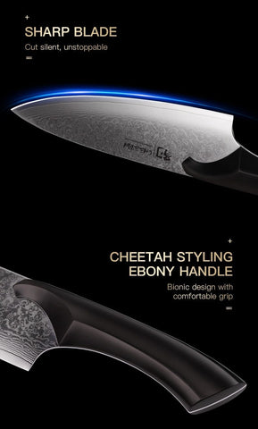 """Japanese Kitchen Chef Knife Cheetah Series 8"""" Meat Cleaver Ultra Sharp Chef's"""