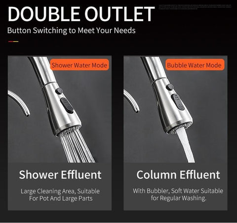 Pull Down Kitchen Faucet with Water Filter For Drinking Pull-Out