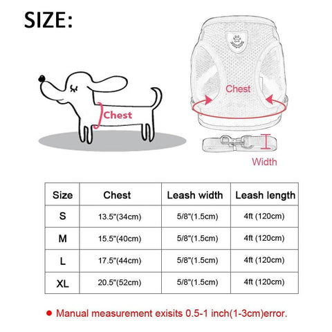 Reflective Cat & Kitten Harness And Leash Set For Adventure Cats