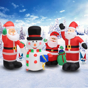 Inflatable Blow Up Santa Christmas Decorations