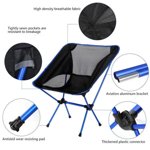Camping Folding Chairs Lightweight Heavy Duty Ultralight Portable Chair Outdoor Most Comfortable Foldable Compact Cheap Best