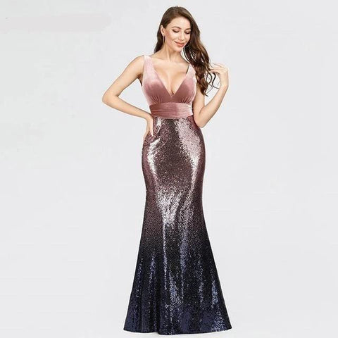 Formal Womens Evening Dresses Winter Red Long Gowns For