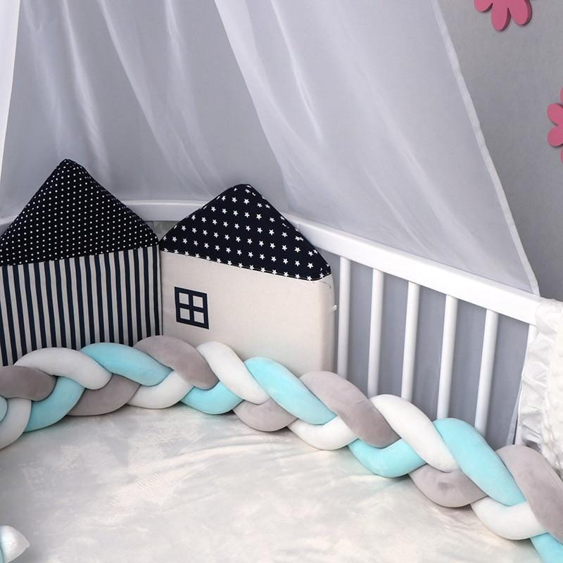Crib Bumper Braided Padding Liner Bumpers Baby