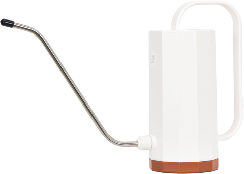 Watering can for tropical plants with a long spout
