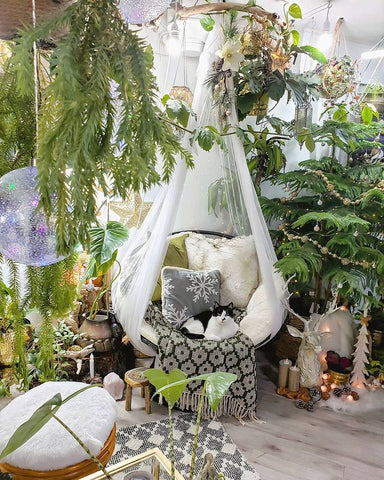 Urban jungle corner home decor - how to style your houseplants.
