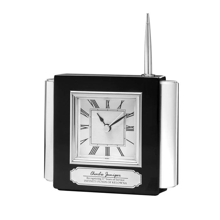 Load image into Gallery viewer, DA9319 - High Gloss Piano Clock/Pen Set