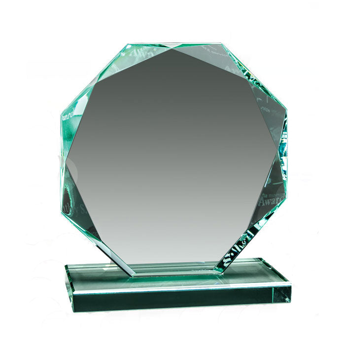 GL12099 - Octagon Jade Glass Value Series Award