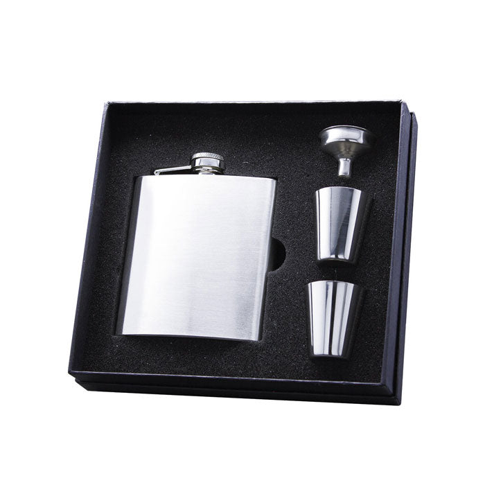 Stainless Steel 6oz Flask Gift Set